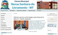 Câmara de vereadores de Livramento lança portal na internet