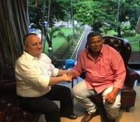 Vereador Airton se reúne com o governador Pedro Taques e fala dos problemas na Saúde e nas estradas de Livramento