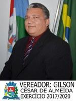 Vereador Gilson Cesar de Almeida