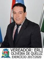 Vereador Erli Oliveira de Queluz